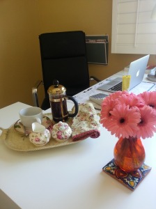 flowers and coffee to lift